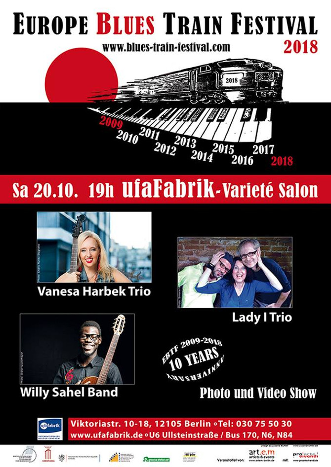 Vanesa Harbek in Europe Blues Train Festival - Germany