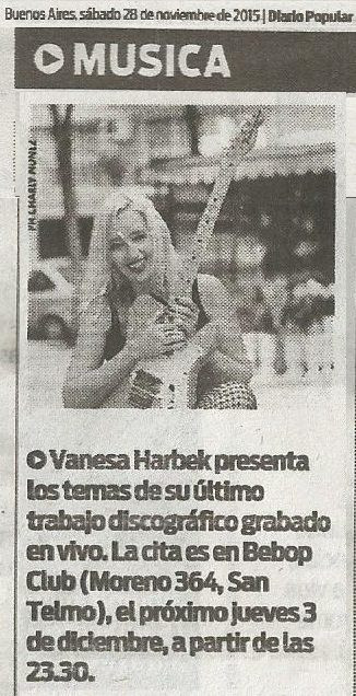 Vanesa Harbek - Diario Popular