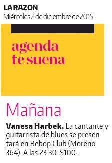Vanesa Harbek - Diario LA RAZON