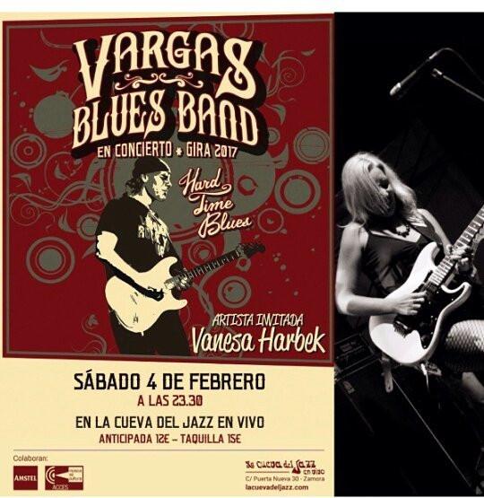 Vargas Blues Band + Vanesa Harbek en Zamora - España