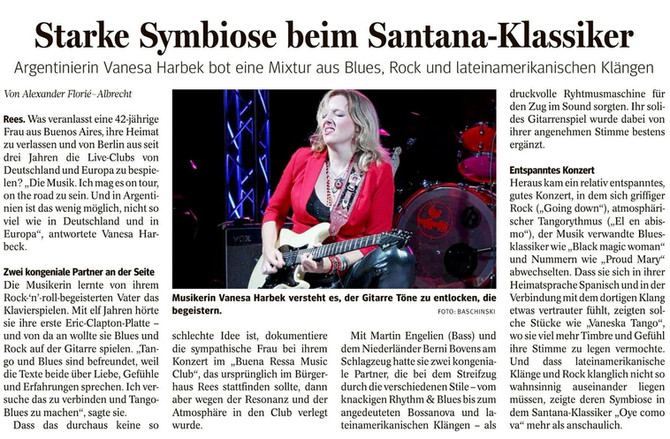 Vanesa Harbek - Concert Review - Rees - Germany