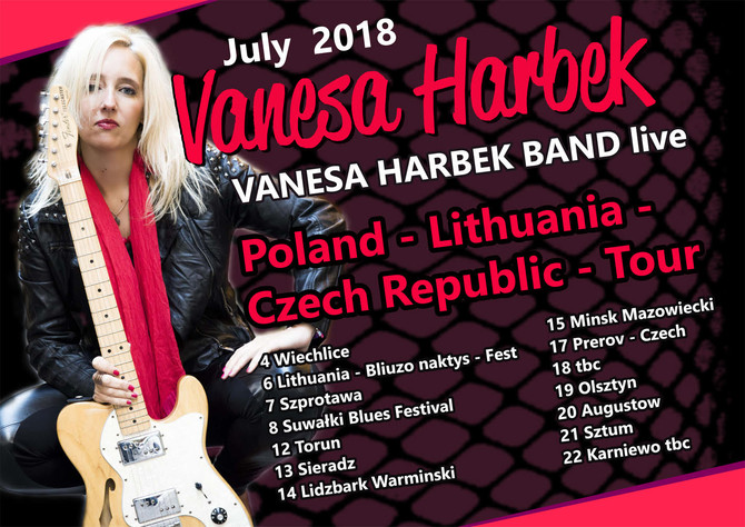 VANESA HARBEK - JULY 2018 TOUR