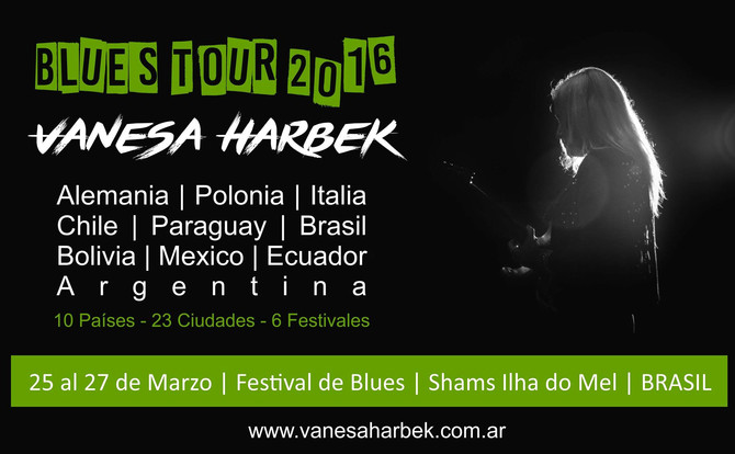 Vanesa Harbek en Festival de Blues Ihla Do Mel - Brasil