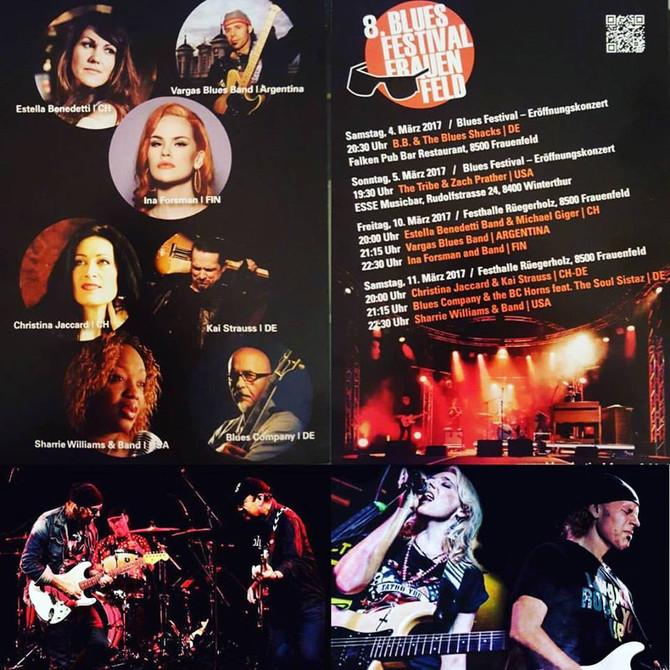 Vanesa Harbek estará tocando de invitada de Vargas Blues Band en Zurich - Suiza este viernes