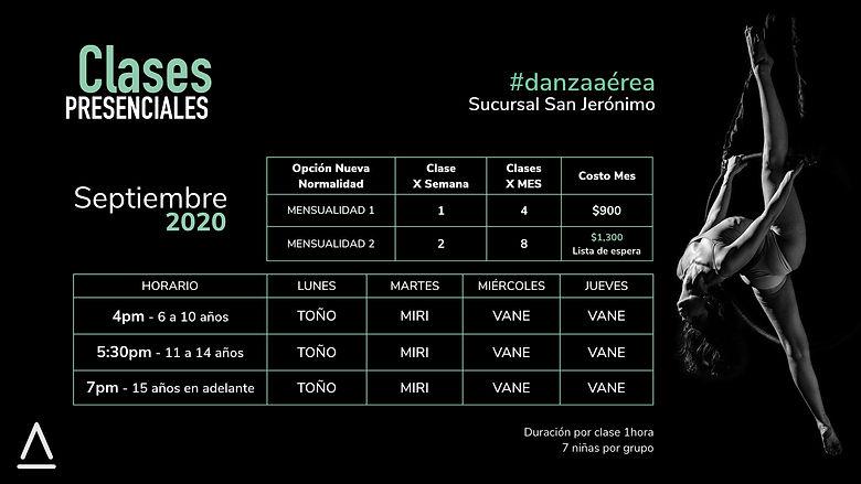 CLASES PRESENCIALES SEPTIEMBRE 2020.001.