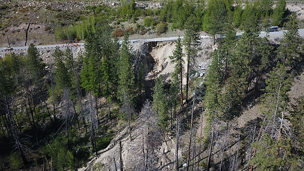 View of slide. Twisp to the left and Okanogan to the right.