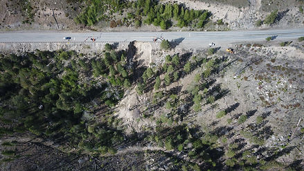 View from directly above with Twisp to the left and Okanogan to the right.