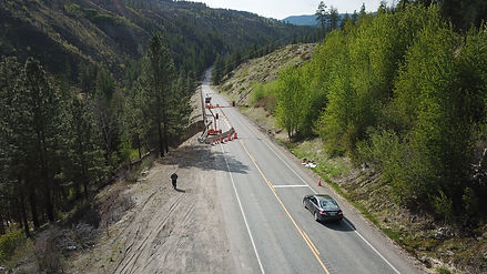 View from Okanogan side looking towards Twisp direction.
