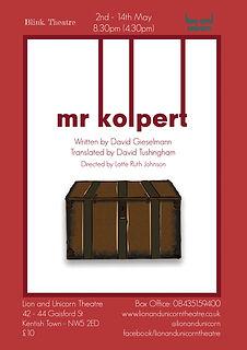 Mr Kolpert Poster - Blink Theatre