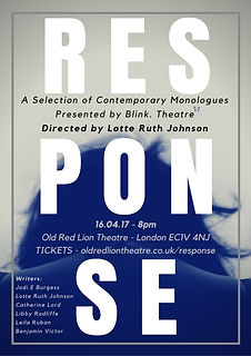 Response Poster - Blink Theatre