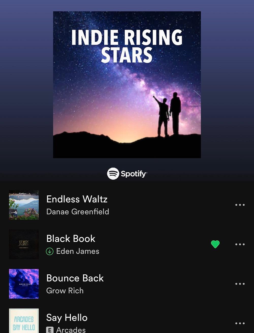 Indie Rising Stars Spotify Playlist