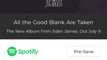 Pre-Order & Pre-Save New LP - 'All the Good Blank Are Taken'