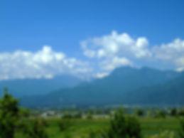 松沢ガラス本社工場から望む安曇野の風景