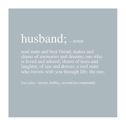 Husband - Definition Range