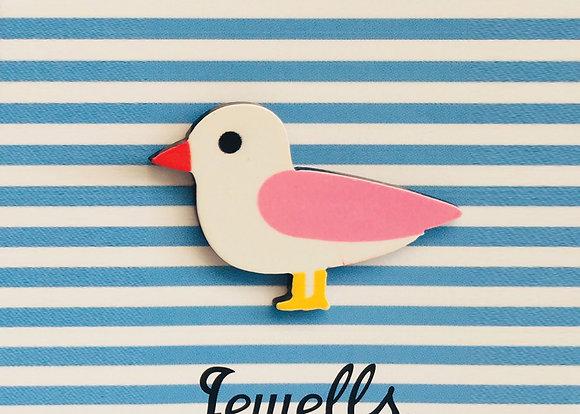 Jewells - Seagull Brooch Pink