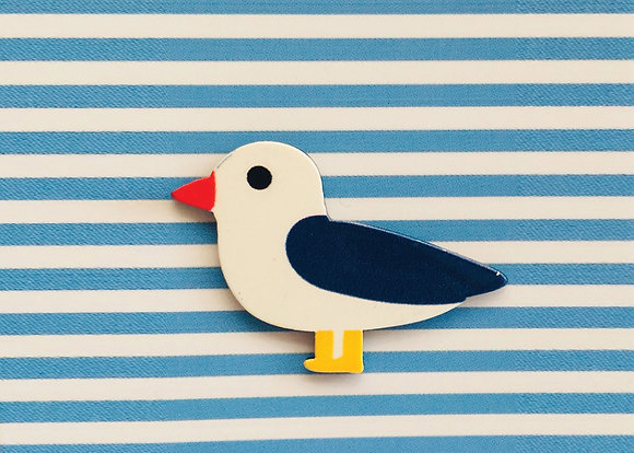 Jewells - Seagull Brooch Blue