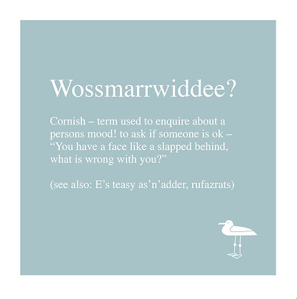 Wossmarrwiddee - Cornish Translation