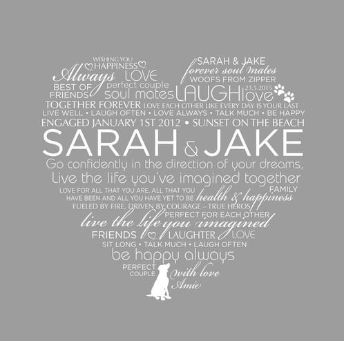 Large Engaged or Marrried Couple Frame | Jaunty Seagull | Handmade ...