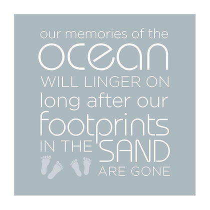 Footprints in the sand - Framed Print
