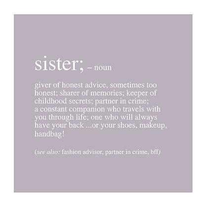 Sister - Definition Range