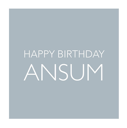 Happy Birthday Ansum