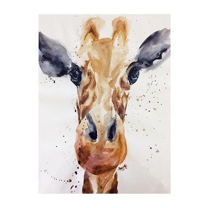 Giraffe Watercolour Print