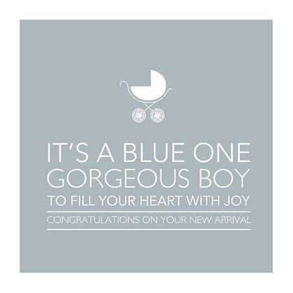 Gorgeous Baby Boy Card