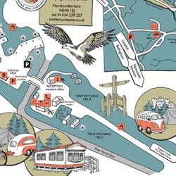 Kielder Campsite map