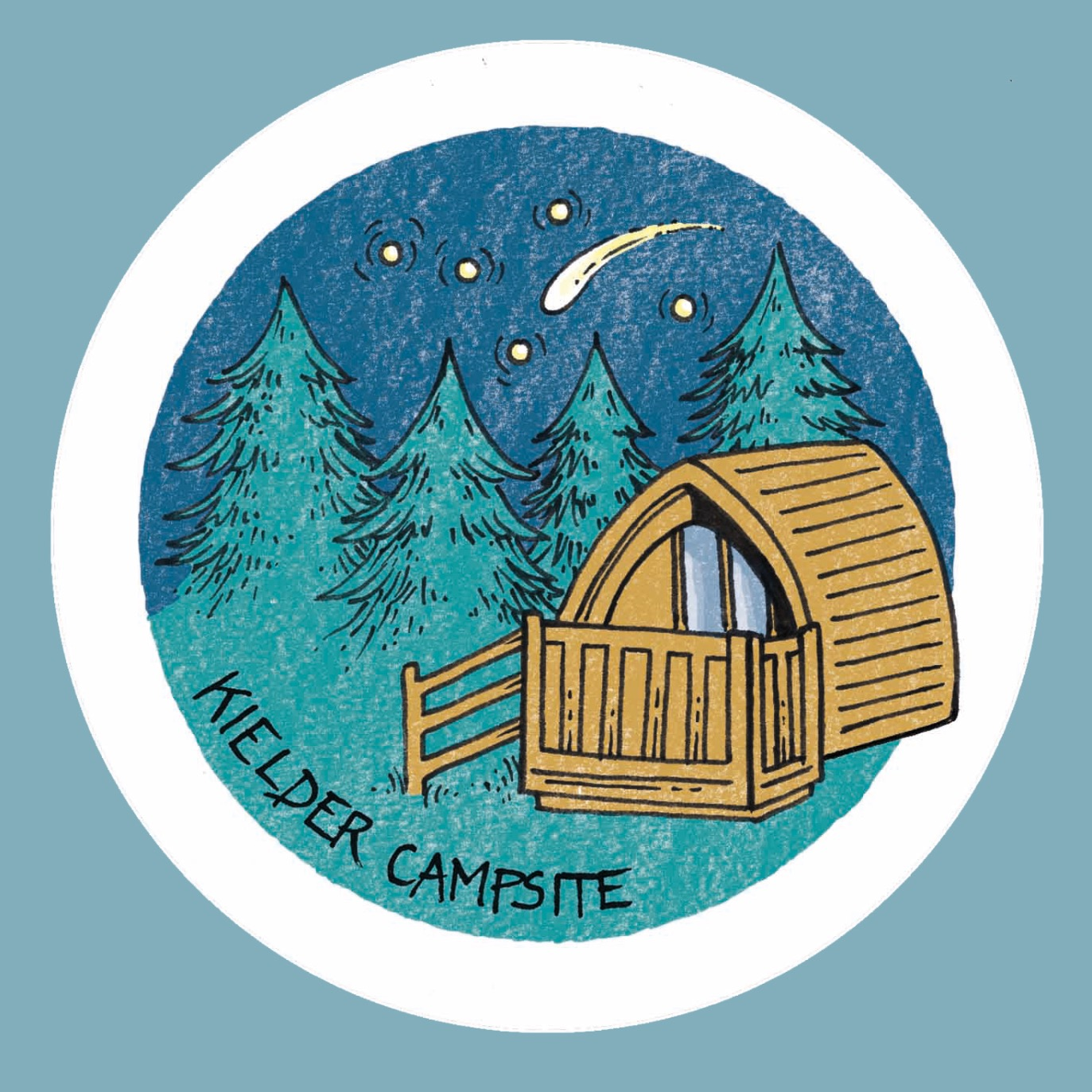 Kielder Campsite stickers