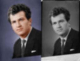 Раскраска черно-белых фотогрфий