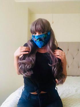 Blue Flowered Mask 2