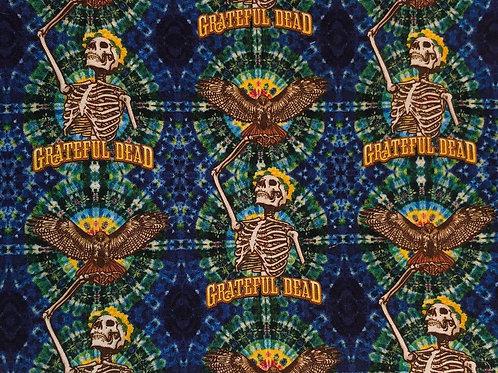 Grateful Dead Tie Dye Skull Fabric