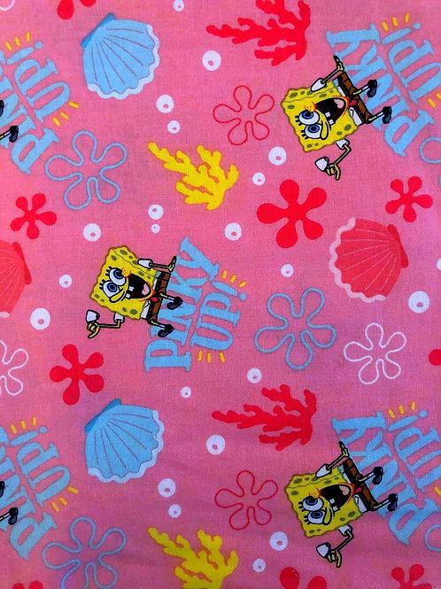 Spongebob Pinky's Up Fabric - 4 left