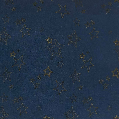 Blue & Gold Stars Fabric