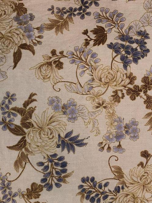 Brown & Beige Flower Fabric