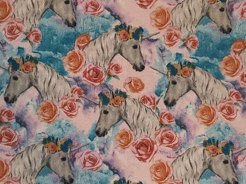 Unicorn & Flower Fabric