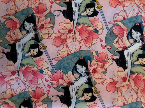Mulan Disney Princess Fabric
