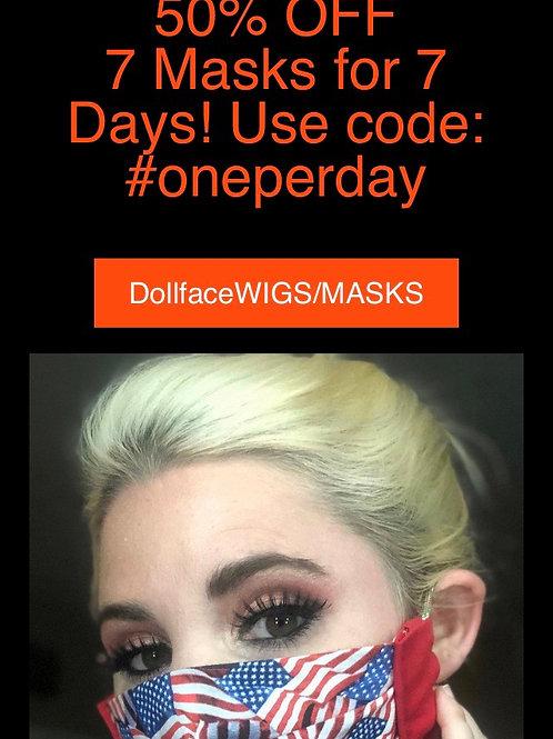 50% OFF 7 Masks for 7 Days