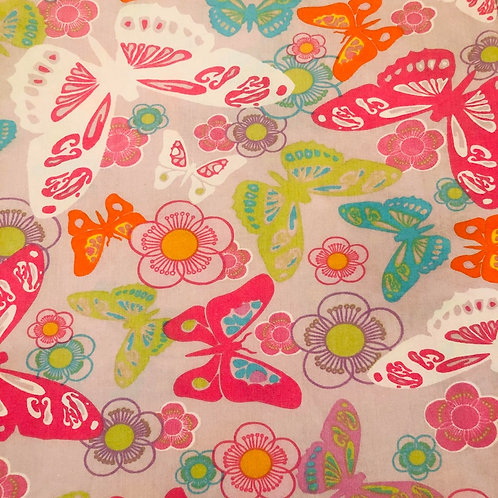 Pink & Green Butterfly Fabric