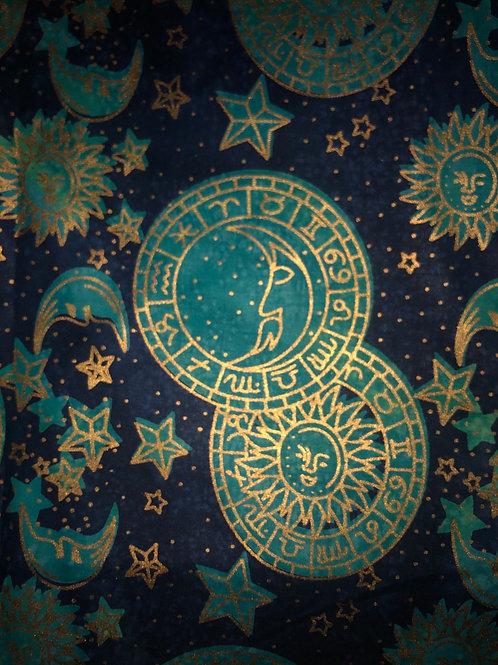 Turquoise Navy Sun Moon