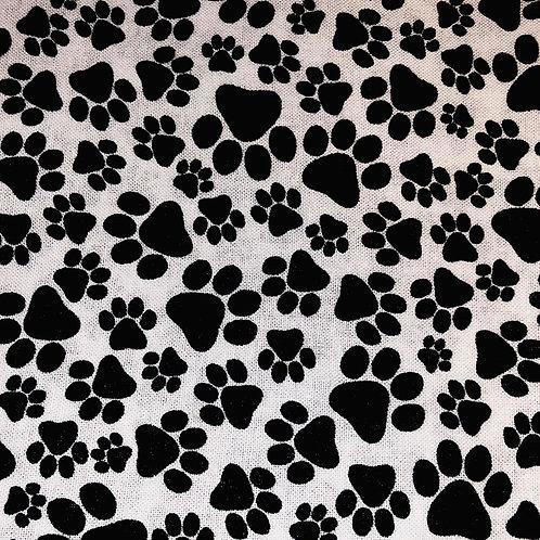 Black & White Paw Print