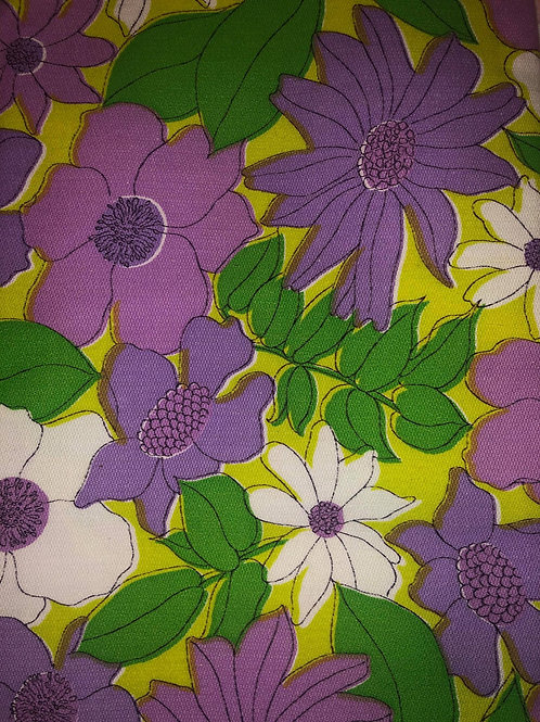 Purple & White Flower Fabric