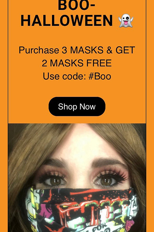 Purchase 3 get 2 Free Code#BOO