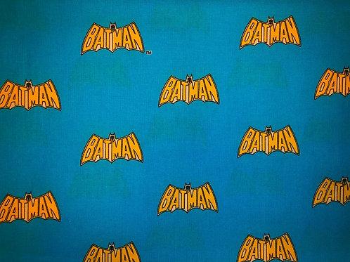 Batman Yellow Logo Fabric