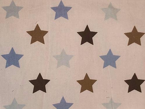 Blue & White Star Fabric