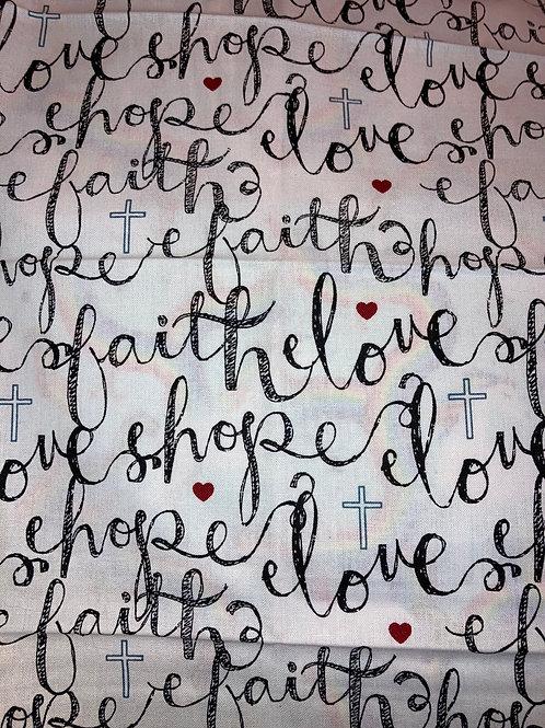 New - love faith hope