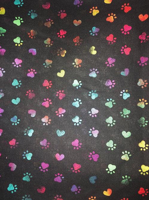 Dog Prints Black w/Tiffany Blue Back