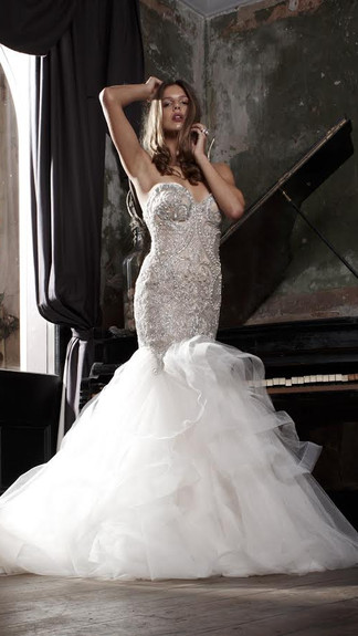Elegant Couture 2015 Collection Designer Wedding Gown by Leah Da Gloria 14