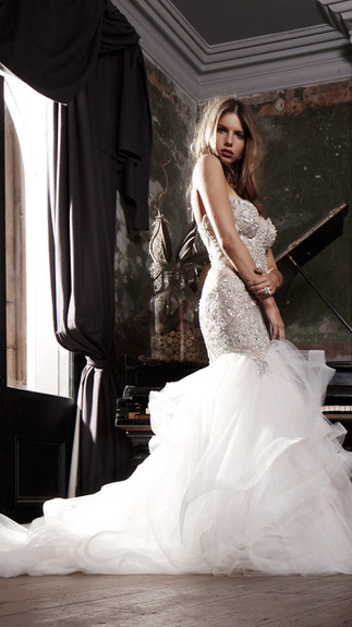Elegant Couture 2015 Collection Designer Wedding Gown by Leah Da Gloria 15