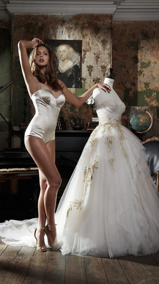 Elegant Couture 2015 Collection Designer Wedding Gown by Leah Da Gloria 16